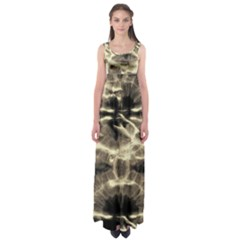 Beige Tie Dye Empire Waist Maxi Dress by CoolDesigns