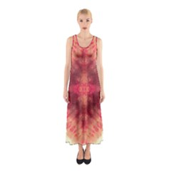 Pink Tie Dye 2 Sleeveless Maxi Dress by CoolDesigns
