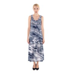 White Tie Dye 3 Sleeveless Maxi Dress by CoolDesigns