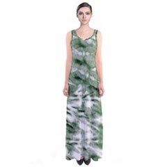 Green Tie Dye 2 Sleeveless Maxi Dress by CoolDesigns