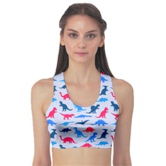 Blue Dinosaur Sport Bra by CoolDesigns