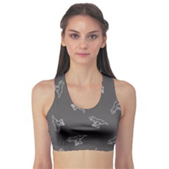 Gray Tyrannosaurus Sport Bra by CoolDesigns
