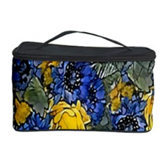Floral Pattern Background Cosmetic Storage Case by Simbadda