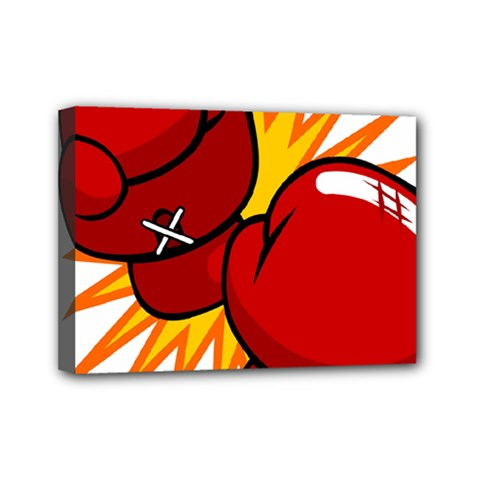 Boxing Gloves Red Orange Sport Mini Canvas 7  X 5  by Alisyart