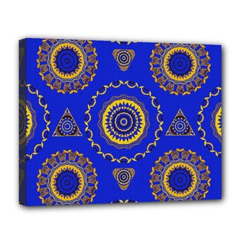 Abstract Mandala Seamless Pattern Canvas 14  X 11  by Simbadda