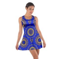 Abstract Mandala Seamless Pattern Cotton Racerback Dress