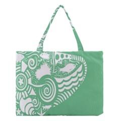 Fish Star Green Medium Tote Bag by Alisyart