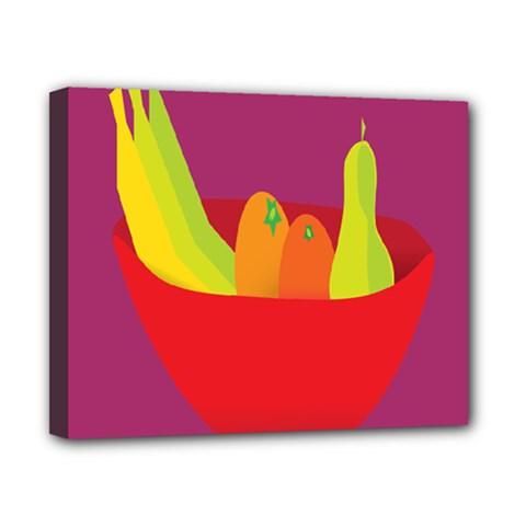 Fruitbowl Llustrations Fruit Banana Orange Guava Canvas 10  X 8  by Alisyart