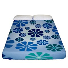Geometric Flower Stair Fitted Sheet (king Size) by Alisyart