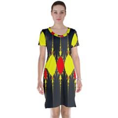 Hyperbolic Complack  Dynamic Short Sleeve Nightdress by Alisyart