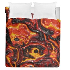 Lava Active Volcano Nature Duvet Cover Double Side (queen Size) by Alisyart