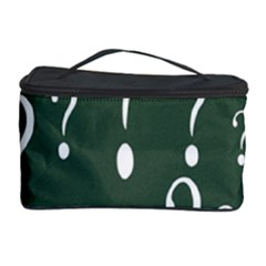 Question Mark White Green Think Cosmetic Storage Case by Alisyart