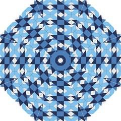 Radiating Star Repeat Blue Straight Umbrellas by Alisyart