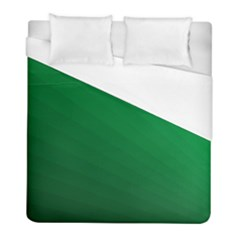 Green Beach Fractal Backdrop Background Duvet Cover (full/ Double Size) by Simbadda