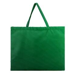 Green Beach Fractal Backdrop Background Zipper Large Tote Bag by Simbadda