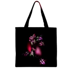 Colour Of Nature Fractal A Nice Fractal Coloured Garden Zipper Grocery Tote Bag by Simbadda
