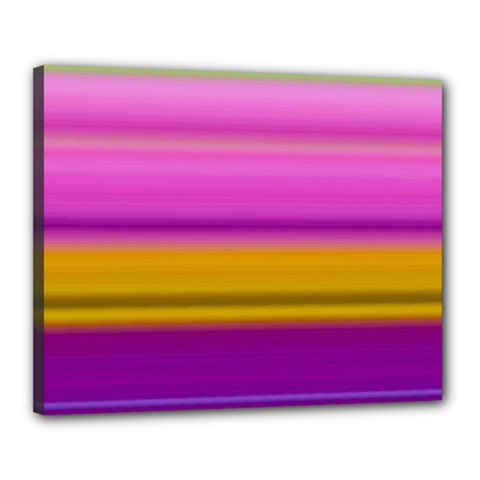 Stripes Colorful Background Colorful Pink Red Purple Green Yellow Striped Wallpaper Canvas 20  x 16  by Simbadda