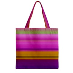 Stripes Colorful Background Colorful Pink Red Purple Green Yellow Striped Wallpaper Zipper Grocery Tote Bag by Simbadda