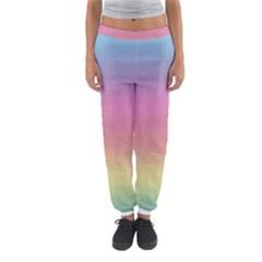 Watercolor Paper Rainbow Colors Women s Jogger Sweatpants by Simbadda