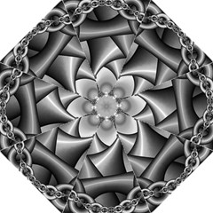 Grey Fractal Background With Chains Folding Umbrellas by Simbadda