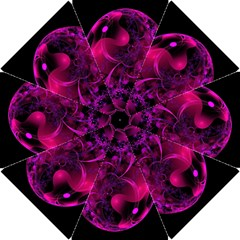 Fractal Using A Script And Coloured In Pink And A Touch Of Blue Hook Handle Umbrellas (small) by Simbadda