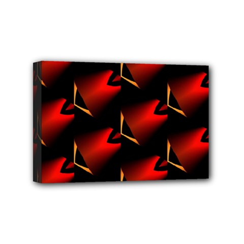 Fractal Background Red And Black Mini Canvas 6  X 4  by Simbadda