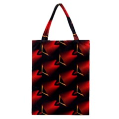 Fractal Background Red And Black Classic Tote Bag by Simbadda