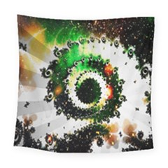 Fractal Universe Computer Graphic Square Tapestry (large) by Simbadda