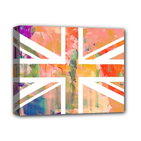 Union Jack Abstract Watercolour Painting Deluxe Canvas 14  X 11  by Simbadda