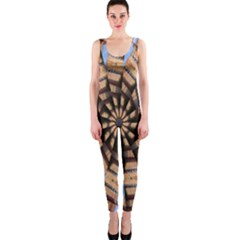 Manipulated Reality Of A Building Picture Onepiece Catsuit by Simbadda