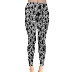 X Ray Rendering Hinges Structure Kinematics Circle Star Black Grey Leggings  by Alisyart