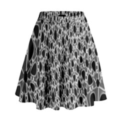 X Ray Rendering Hinges Structure Kinematics Circle Star Black Grey High Waist Skirt by Alisyart