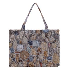Multi Color Stones Wall Texture Medium Tote Bag by Simbadda