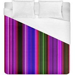 Fun Striped Background Design Pattern Duvet Cover (king Size)