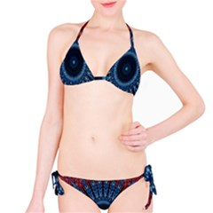 Digital Circle Ornament Computer Graphic Bikini Set