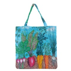 Mural Displaying Array Of Garden Vegetables Grocery Tote Bag by Simbadda