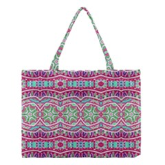 Colorful Seamless Background With Floral Elements Medium Tote Bag by Simbadda
