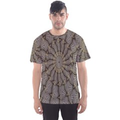 Abstract Image Showing Moiré Pattern Men s Sport Mesh Tee