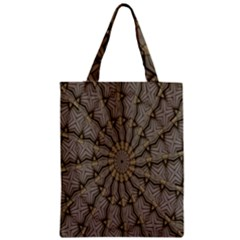Abstract Image Showing Moiré Pattern Zipper Classic Tote Bag by Simbadda