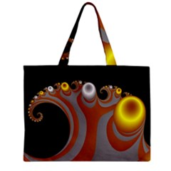 Classic Mandelbrot Dimpled Spheroids Zipper Mini Tote Bag by Simbadda