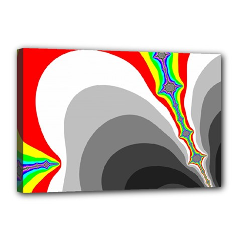 Background Image With Color Shapes Canvas 18  X 12  by Simbadda