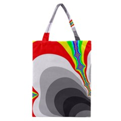 Background Image With Color Shapes Classic Tote Bag by Simbadda