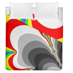 Background Image With Color Shapes Duvet Cover Double Side (queen Size) by Simbadda