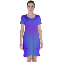 Violet Fractal Background Short Sleeve Nightdress