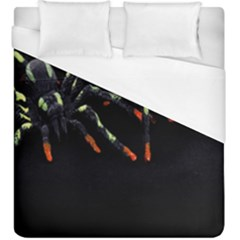 Colorful Spiders For Your Dark Halloween Projects Duvet Cover (king Size) by Simbadda