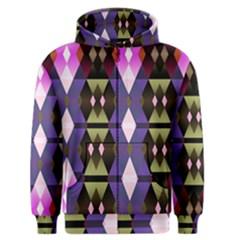 Geometric Abstract Background Art Men s Zipper Hoodie by Simbadda