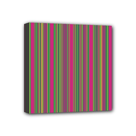 Lines Mini Canvas 4  X 4  by Valentinaart