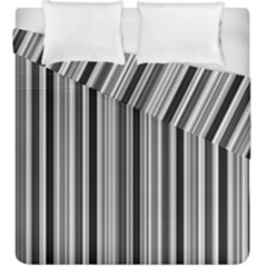 Lines Duvet Cover Double Side (king Size) by Valentinaart