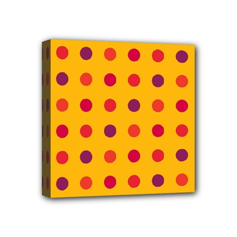 Polka Dots  Mini Canvas 4  X 4  by Valentinaart