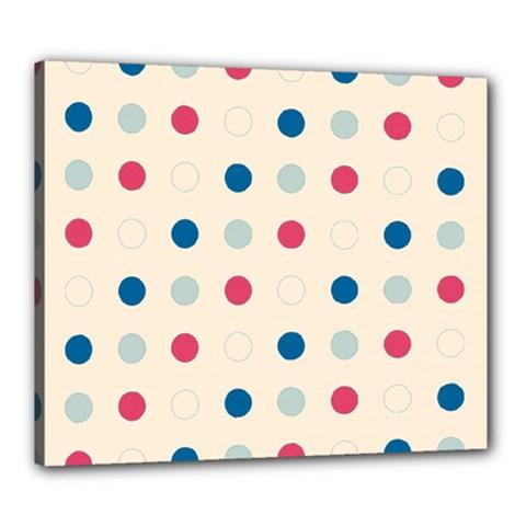 Polka Dots  Canvas 24  X 20  by Valentinaart
